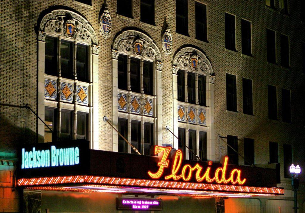 Florida Theater at Night Creative Commons license