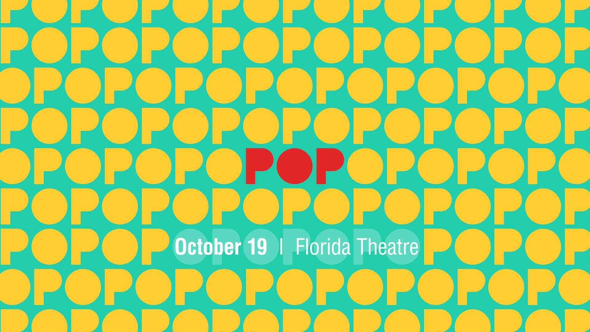 Pop conference theme graphic